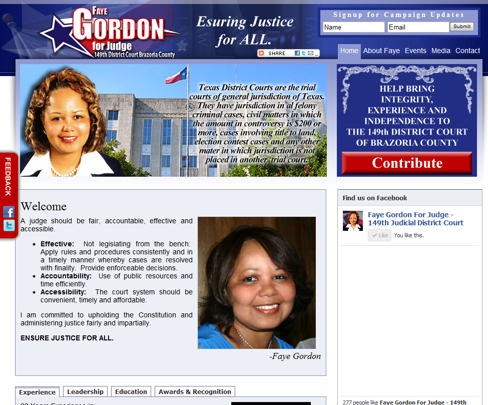 Faye Gordon for Judge