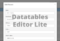 Free Datatables Editor Alternative
