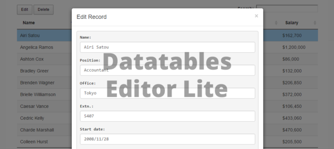 Free Datatables Editor Alternative - Download | KingKode