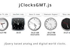 jClocksGMT.js 2.0